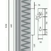 Chladič A120 – rozměry