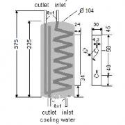 Chladič A80 – rozměry