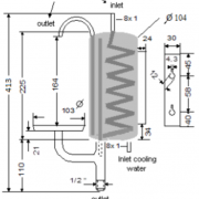 Chladič M80 – rozměry
